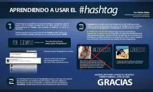 ¿Enseñando a usar el hashtag?